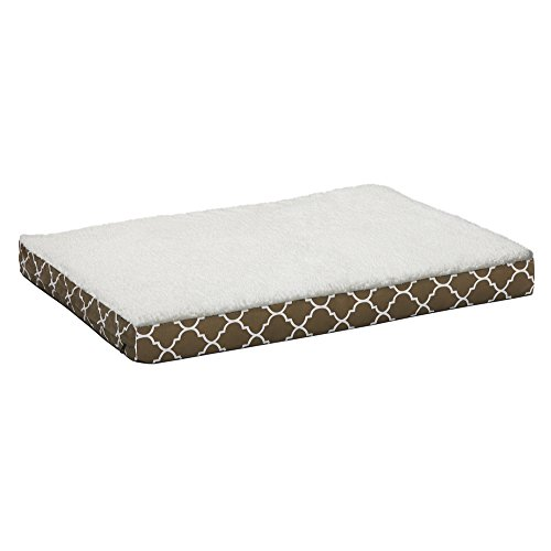 Orthopedic Dog Bed w/ Removable Dog Bed Cover ft. Teflon Fabric Protector, Large Dog Breed, 30 x 40 Inch, Brown / White Geometric Pattern Review