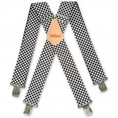 Brimarc Bretelles de travail à carreaux noirs et blancs Taille unique 50 mm