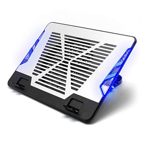 Enfriador de portátiles Bases de refrigeración for portátiles de 12-17 pulgadas, refrigerador portátil Soporte de refrigeración Cooling Pad Mat, USB, 4 de ajuste de altura, aleación de aluminio Base d