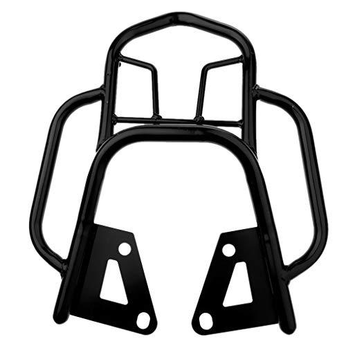 Prettyia Heavy Duty Motorcycle Rear Luggage Rack Bracket for Grom MSX125 - Black