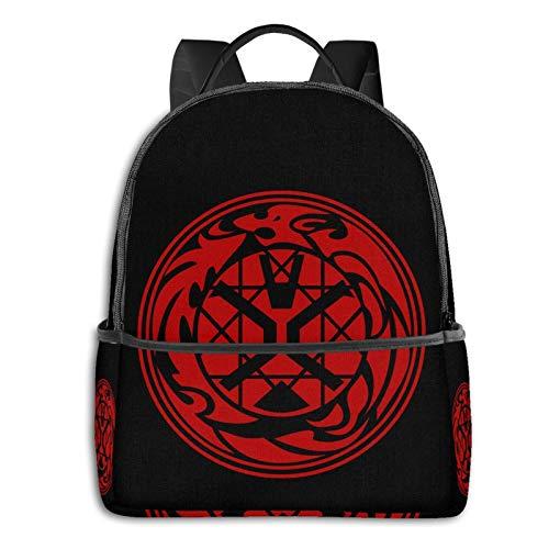 Kamen Rider Wizard Logo Students School Bag Laptop Backpack Travel Cycling Outdoor