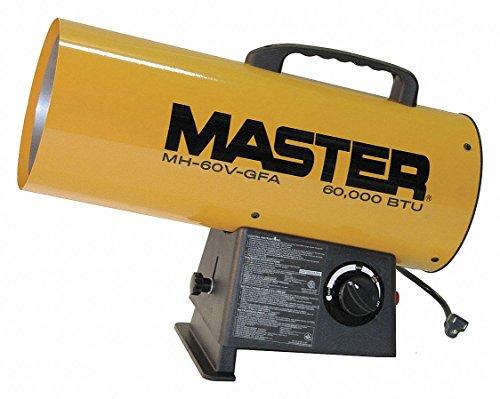 Master MH-60V-GFA 60,000 BTU LP Forced Air Heater, Variable Output