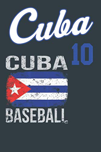 Cuba Baseball: notebook 114 pages, high quality cover and (6 x 9) inches in size Funny Blank Lined Journal Coworker Notebook