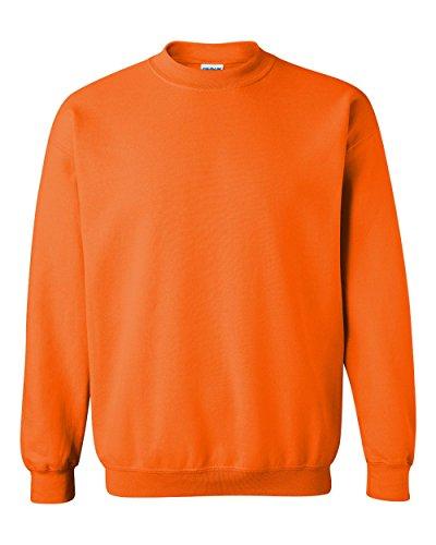 Gildan 18000 - Classic Fit Adult Crewneck Sweatshirt Heavy Blend - First Quality - Safety Orange - Medium
