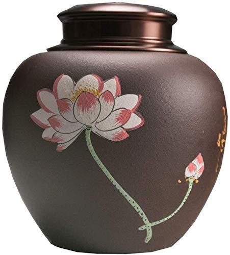 Zenghh Groß Adult große Kapazitäts-Keramik-Handgemachte Hochtemperaturflamme Urns- Geeignet for Erwachsene, können Sich zu Hause oder in einem Friedhof gelegt Werden