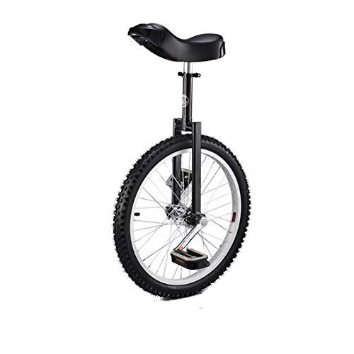16/20/24'inch Wheel Unicycle Anti-Skid Acrobatics Bike Outdoor Sports Fitness Exercise Pedal Bike (Black,24 inch)