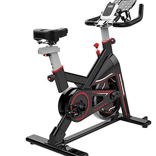 WGFGXQ Cyclette per Allenamento aerobico Indoor, Fitness Cardio Home Cycling Racing con Display LCD e bollitore - Staffa Multifunzione