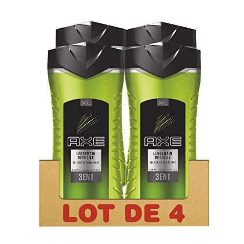 Axe Lendemain Difficile Gel Douche 400 ml - Lot de 4