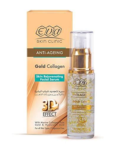 Eva Anti-Aging Gold Miami Mall Collagen Facial All Latest item Serum Rejuvenating for S
