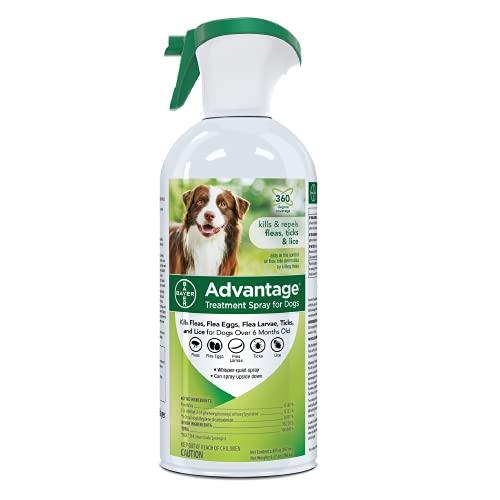 Advantage Flea and Tick Treatment Spray for Dogs, 8 oz