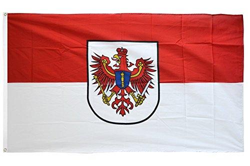 Fahne / Flagge Deutschland Brandenburg alt + gratis Sticker, Flaggenfritze®