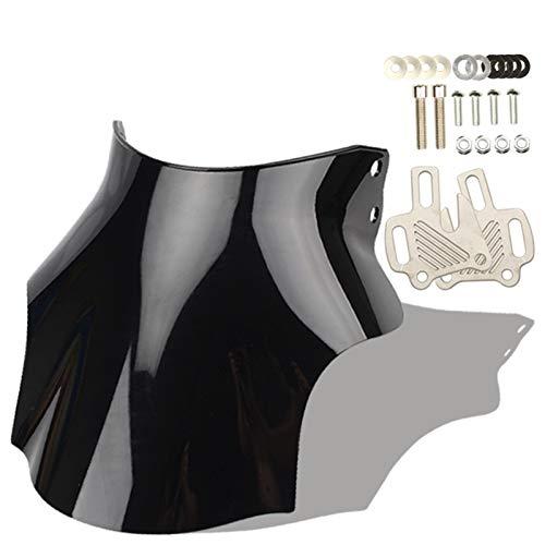 ACYY Parabrisas de motocicleta negro para parabrisas CB400 CB600 CB750 CB900 CB919 CB250 CB 400 600 750 900 919 250, parabrisas de motocicleta (color negro)