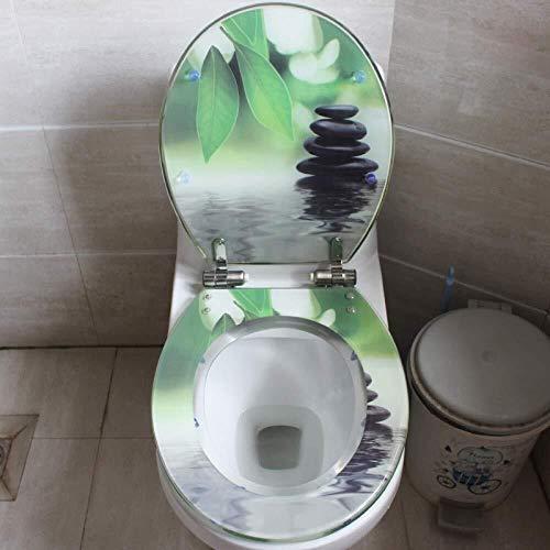 QARYYQ WC-bril van kunsthars, wc-bril met universele schroef, ontlasting van de vergrootglas/U/V-wc-bril