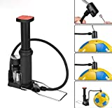 Mini High Pressure Air Pump Bike Tire Ball Floor Foot Mountain Bike Cycling