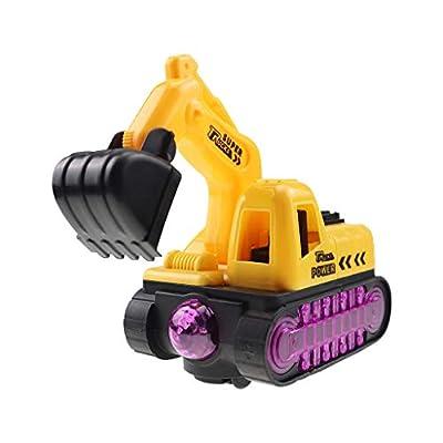 QIUUE Children Electric Excavator Toy Boy Flash...