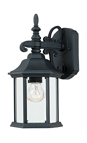 2961-BK Outdoor Wall Lantern, Black Cast Aluminum