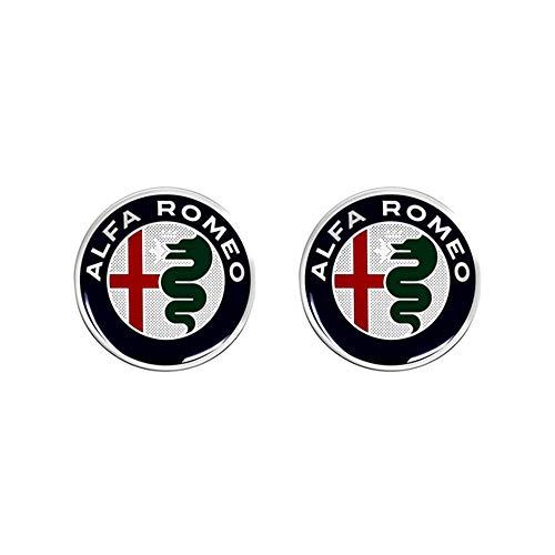 Autocollant 3D Alfa Romeo Logos, Lot de 2, 21 mm