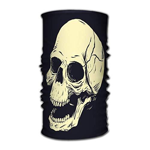 Quintion Robeson Headwear Multifuncional Ocean Wave Stencil Cráneo Clip Art Aislado Fondo Oscuro Resumen