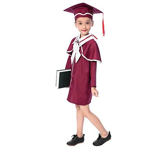 Graduación Bachiller Ropa Niños Estudiantes Jardín De Infantes Pequeño Doctor Sombrero Graduación Fotos Mesa Disfraces,Red-130