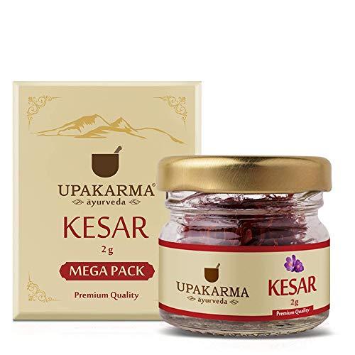 UPAKARMA Pure, Natural and Finest A++ Grade Kashmiri Kesar / Saffron Threads Mega Pack 2 Gram - Pack of 1