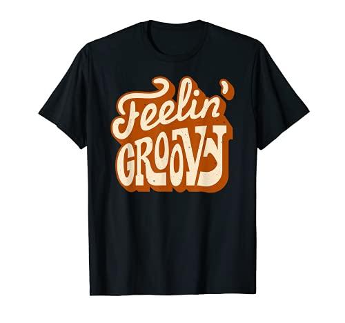 Teeling Groovy 70s - Camiseta retro retro vintage Good Vibes Camiseta