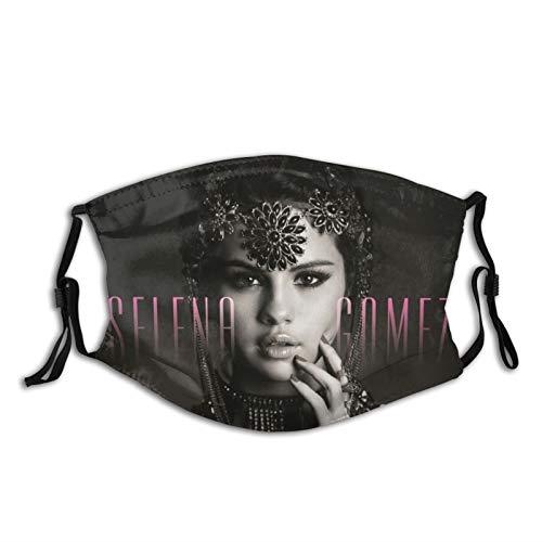 Sel-ENA Gomez Washable and Reusable Fashion Masks, 3D Printed Masks (1 mask, 2 Filters) Black