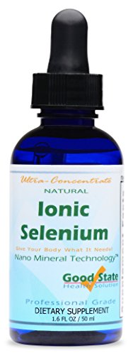 Good State | Ionic Selenium| Natural | Liquid Concentrate | Nano Sized Mineral Technology | Professional Grade | 10 Drops Equals 70 mcg | 1.6 Fl oz Bottle