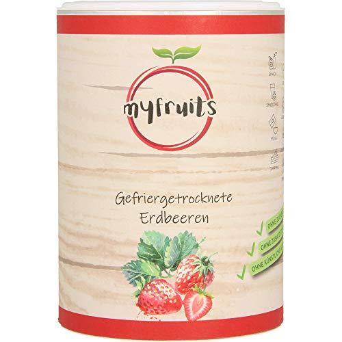 myfruits Erdbeeren, gefriergetrocknet, für Müsli oder Porridge 70g