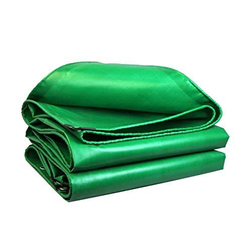 JLWM Lona Impermeable Exterior, Lonas Con Ojales Lona Lona Proteccion A Prueba De Viento Impermeable Dom-resistente Frío-resistente Para Camión Edificio Madera Verde-4.8x4.9m