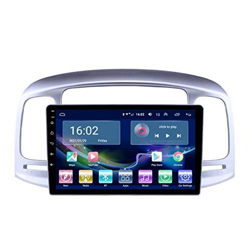 Reproductor multimedia de coche Android 10 de 9 pulgadas para Hyundai Accent 2006-2011, reproductor multimedia Auto Radio navegación estéreo, pantalla táctil 2.5D,4g+wifi 1g+32g