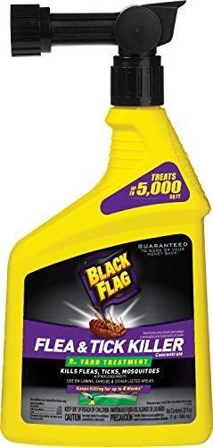 Black Flag Flea & Tick Killer Yard Treatment Concentrate Spray, 32-Ounce
