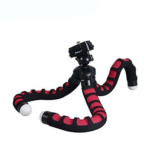Fotopro–RM-100–Stativ Flexible Octopus für Kamera–Schwarz/Rot