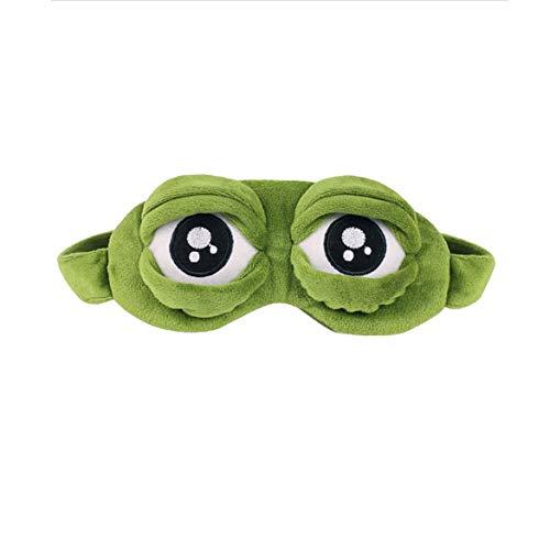 JohnJohnsen Belle grenouilles yeux endormi masque pour les yeux bandage élastique couvre-yeux cache-yeux bandeaux pour vol voyage bureau nuit sommeil