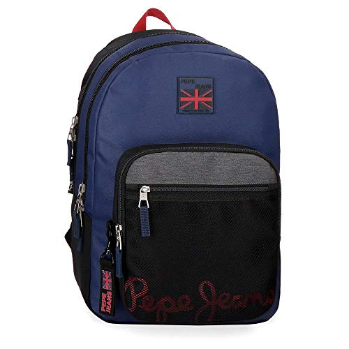 Pepe Jeans Hammer Sac à dos double compartiment adaptable au chariot Multicolore 31x46x15 cms Polyester 21.39L