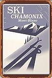 GUANGZHOU Chamonix-Mont-Blanc Vintage Ski Retro Metal Sign