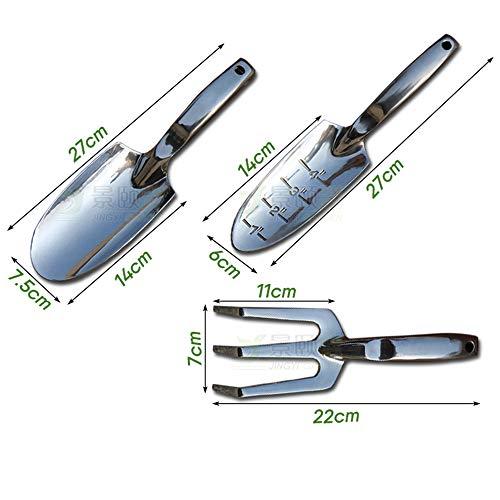 SPARE Tragbare Grabwerkzeug Mini Stahlharke für Hausgarten-Topfen-Tools (3pcs),C
