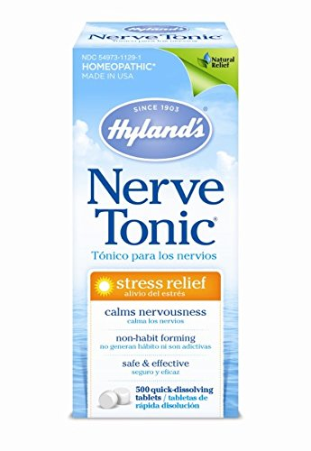 Hyland's Stress and Anxiety Relief Supplement, Nerve Tonic, Natural Relief of Nerve Pain,...