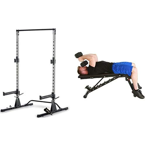 "Fitness Reality 810XLT Power Cage with 2000 XL ""No Gap"" Weight Bench Combo (2833)"