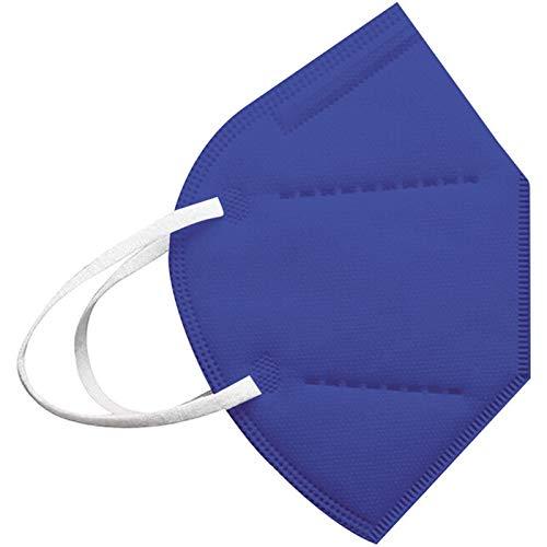 Big 20/25/50/100 Stück Erwachsene_5 Lagige Schutz_𝙁𝙁𝙋𝟮_Maske_𝙆𝙉𝟵𝟱, Breathable, Dustproof Bandana (Blue, 100)