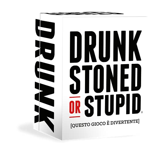 Asmodee Italia Drunk, Stoned or Stupid, Gioco di Carte, Vietato ai Minori di anni 18, Edizione in Italiano, 8416