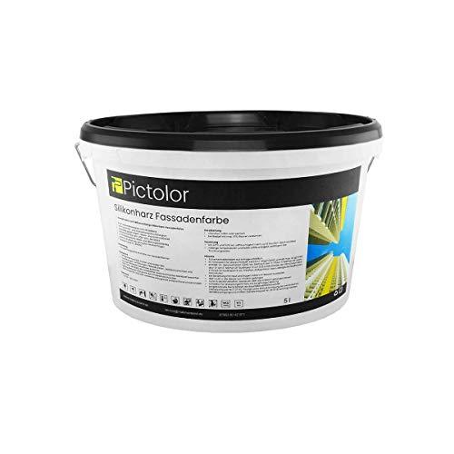 Pictolor Silikonharz Fassadenfarbe 5 Liter weiß