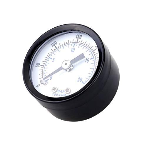 GFCGFGDRG 0-20bar 0-300psi Mini-Manometer Manometer Luftmesser Luftdruck Kompressor Pneumatische Hydraulik Meter Flüssigkeitsdrucktester