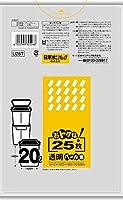 日本サニパック 分別ペールポリ20L透明 25枚 まとめ買い(×5)