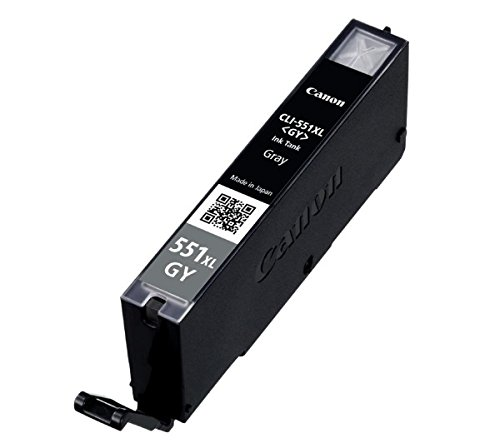 Canon CLI-551X L GY Gris Cartucho de tinta para impresora de inyección de tinta (gris, Canon Pixma MG6350, Alto, A4, ISO/IEC 24734, Inyección de tinta, Ampolla)