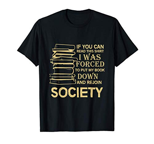 If You Can Read This Book Lovers Novel Reading Funny T-Sh