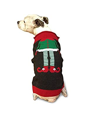 Ugly Christmas Sweater Elf Dog Sweater