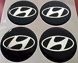 Hyundai4 Stück 60mm Aufkleber Emblem für Felgen Nabendeckel Radkappen