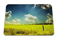 22cmx18cm マウスパッド (フィールド牧草地空雲日夏塗料色) パターンカスタムの マウスパッド