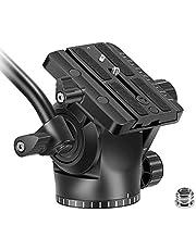 Neewer Videokamerastativ i plast för flytande drag med 1/4 tum QR-platta med 3/8 tum skruvadapter, kompatibel med Canon Nikon Sony DSLR-kameror videokameror filmande filmning, ladda upp till 9 pund/4 kg