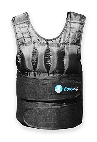 BodyRip Gewichtsweste Komfort Gepolstert 2.0 Design | Eine Grösse Passt Allen, Einstellbar, Atmungsaktives Gewebe, Abnehmbare Gewichte | Zuhause, Fitnessstudio, Übung, Fettabbau, Pilatus | 20kg